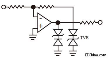 Op amp output stage protection
