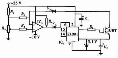 Using IGBT overcurrent principle circuit
