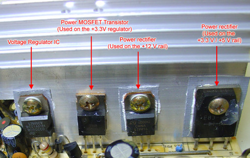 Secondary heat sink on the components