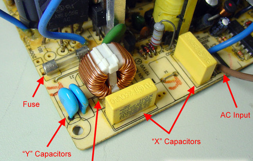 Low-end power supply EMI circuit