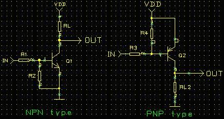 NPN and PNP basic switch schematic--Transistor Switching Circuit Design and its theory