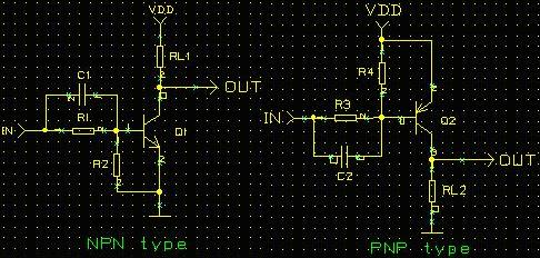 Practical NPN and PNP Switching Schematic (Add Acceleration Capacitance)--Transistor Switching Circuit Design and its theory