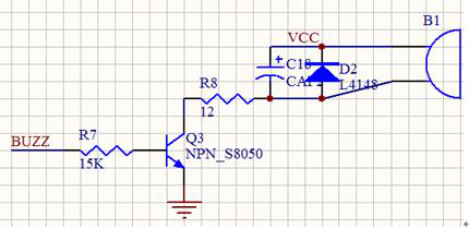 Buzzer control circuit - passive buzzer--Transistor Switching Circuit Design and its theory