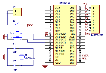 Signal Generator Clock circuit--A Signal Generator Project Based on Single Chip Microcomputer 89C51