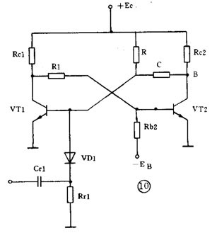 base-coupled monostable circuits