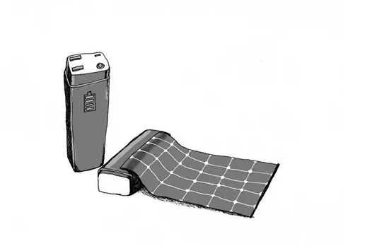Foldable solar cell