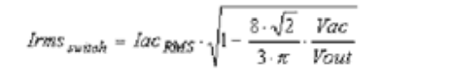 Equation 2 RMS current in the CCM PFC circuit