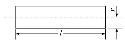 Inductance diagram of straight line with circular section