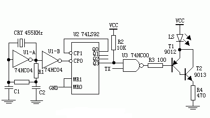 Figure 3 shows the infrared emission circuit