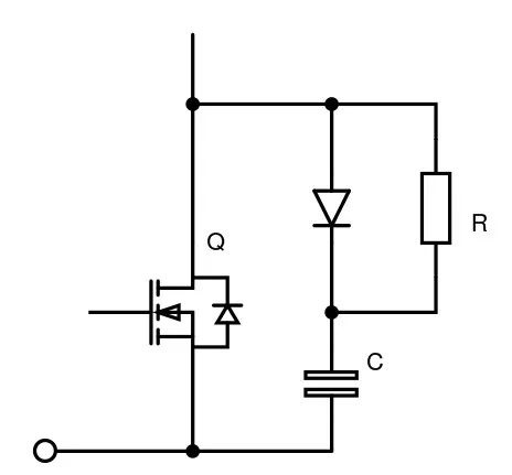 Figure 2: Switching buffer for IGBT or MOSFET.