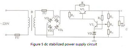 Figure 5 DC regulated power supply circuit