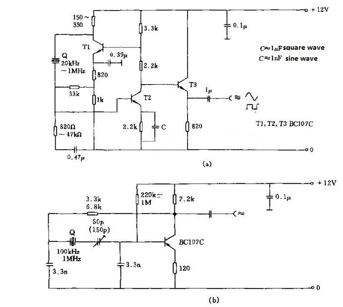 Crystal Oscillator Circuit Diagram (7)