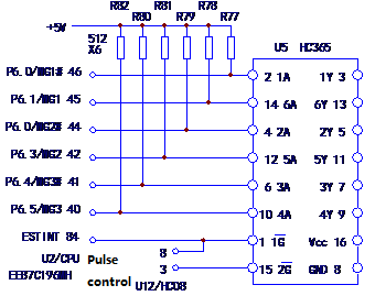 Figure 4 Circuit diagram of the pull-up resistor of the MCU pin