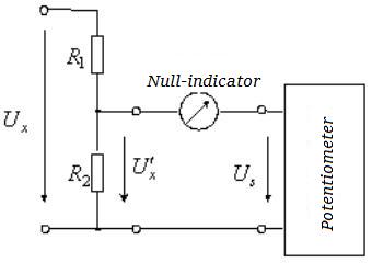 Potentiometer Measures High Voltage