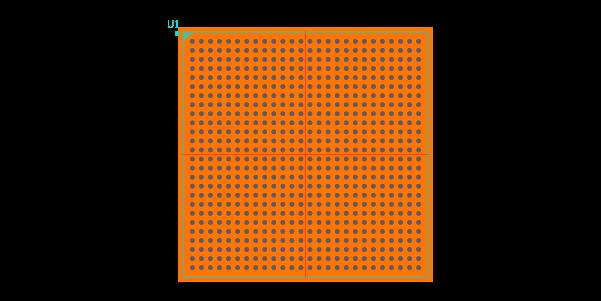 XC7Z045-2FFG676I Footprint