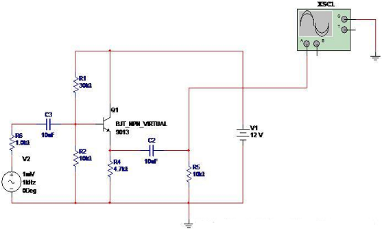 Small-signal common collector amplifier  Circuit