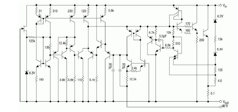 Figure 11. Internal Schematic of LM317