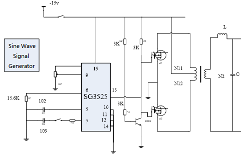 Figure 3-5 SPWM Inverter Circuit
