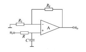 First-order active low-pass filtering circuit