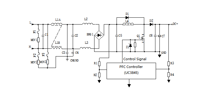 Switching Power Supply Circuit Diagram with Explanation