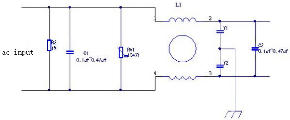 Typical Circuit Diagram of An EMI Filter