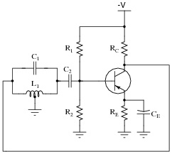 Circuit with Oscillator Capacitors