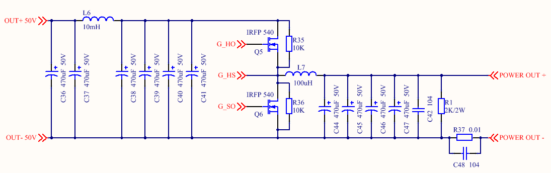Figure 5.BUCK Synchronous Step-down Rectifier Circuit