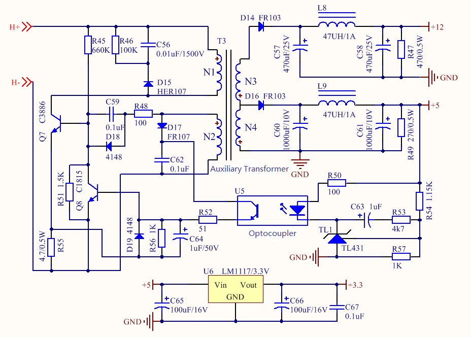Figure 10. Auxiliary Power Supply Circuit