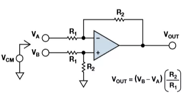 Voltage Subtractor, Differential Amplifier Circuit