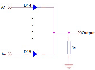 Schottky Diode as OR Gate