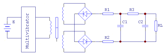 Figure 9. Schematic Diagram of DC Differential Transformer Circuit