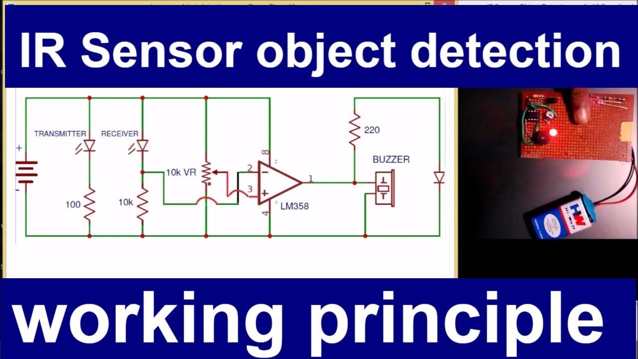 IR sensor object detection working principle