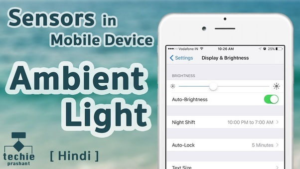 The use of light sensor