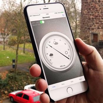 The use of air pressure sensor