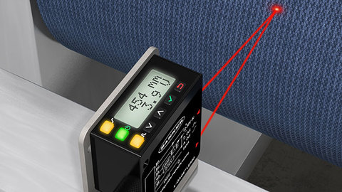 Thickness measuring with laser sensor