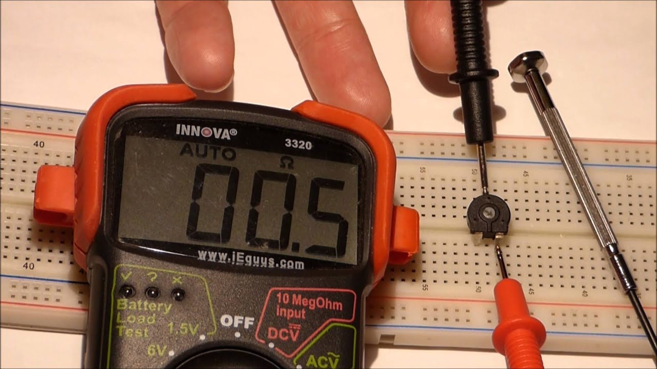 Test a Variable Resistor