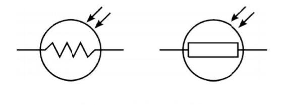 Photoresistor Symbol