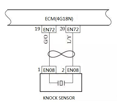 The Circuit of Knock Sensor