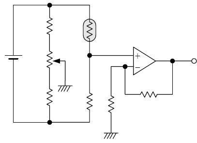 The Circuit of Temperature Sensor