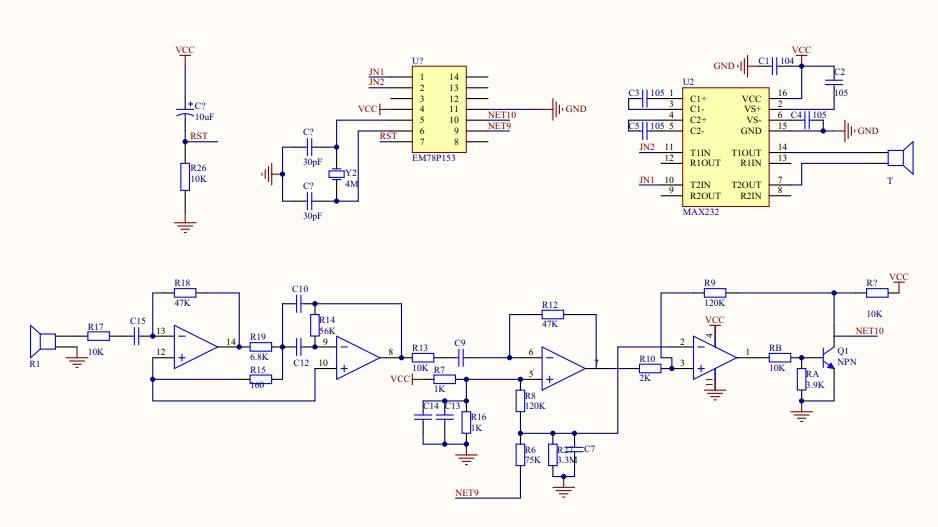The Schematic of Ultrasonic Sensor