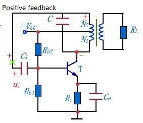 Inductive feedback oscillation circuit