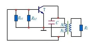 AC path of inductive feedback oscillation circuit