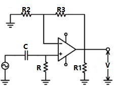 High-pass RC Filter