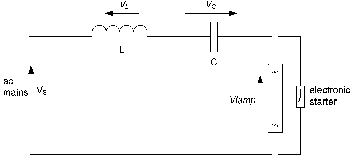 Circuit of the LC Ballast for T5 28W Lamps