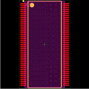 MT48LC2M32B2TG-6 Footprint