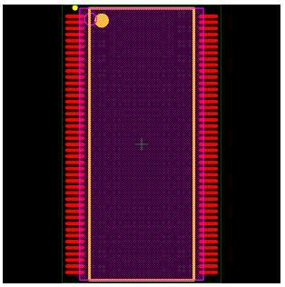 MT48LC4M32B2TG-6 Footprint