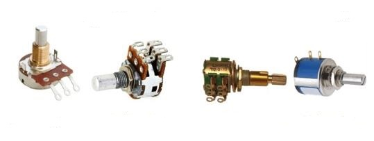 Types of Potentiometers Image