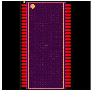 MT48LC4M16A2P-75IT Footprint