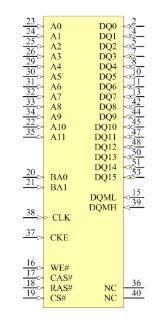 MT48LC4M16A2TG-75 Symbol