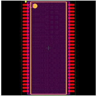 MT48LC4M16A2TG-75 Footprint